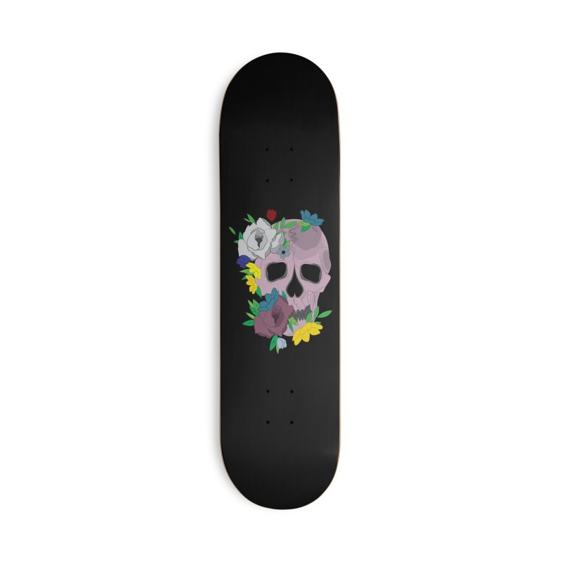Pink Skull Candy Accessories Skateboard by Working Whatnot's Artist Shop