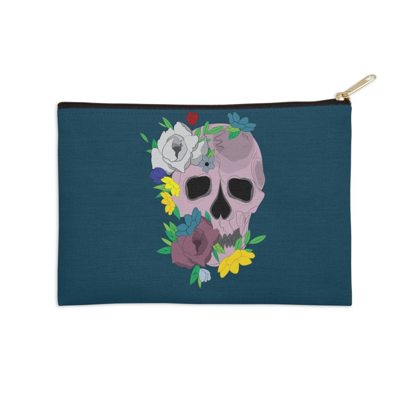 Pink Skull Candy Accessories Zip Pouch by Working Whatnot's Artist Shop