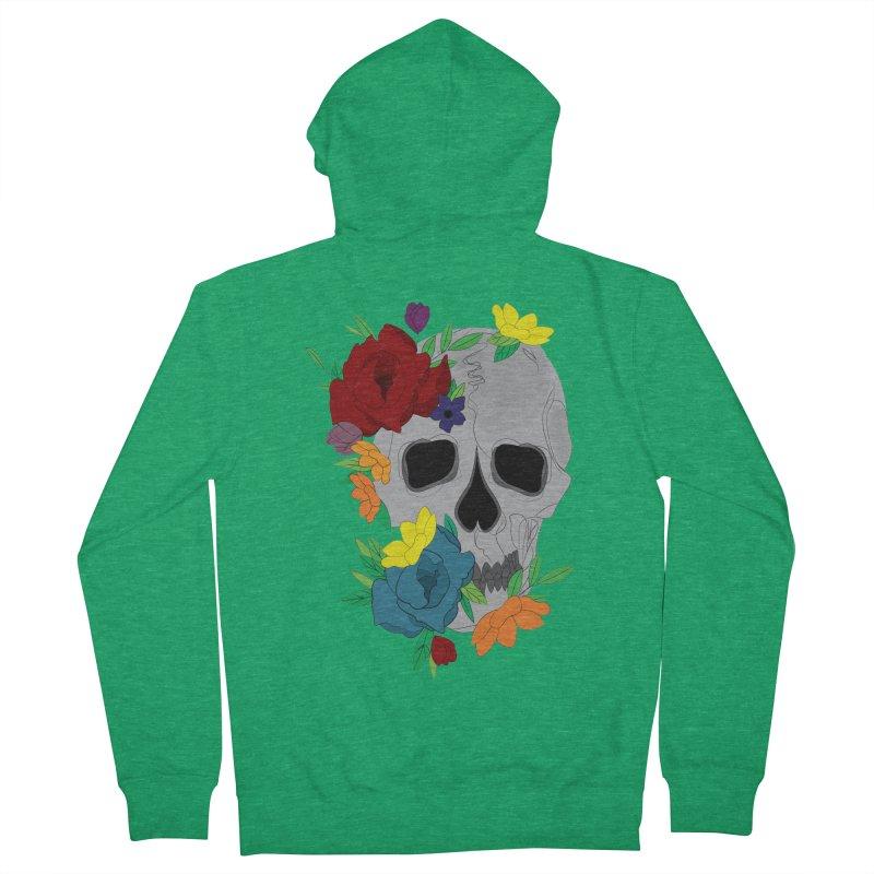 Skull Candy Women's Zip-Up Hoody by Working Whatnot's Artist Shop
