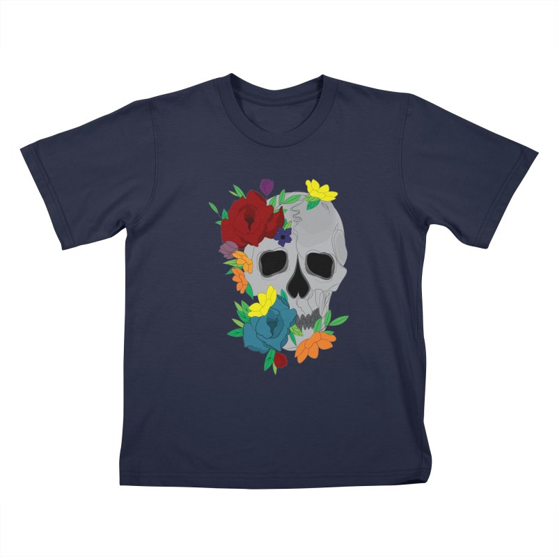 Skull Candy Kids T-Shirt by Working Whatnot's Artist Shop