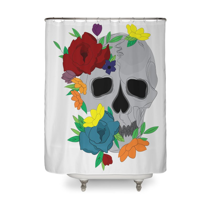 Skull Candy Home Shower Curtain by Working Whatnot's Artist Shop