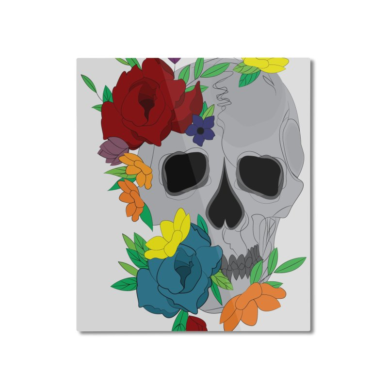 Skull Candy Home Mounted Aluminum Print by Working Whatnot's Artist Shop