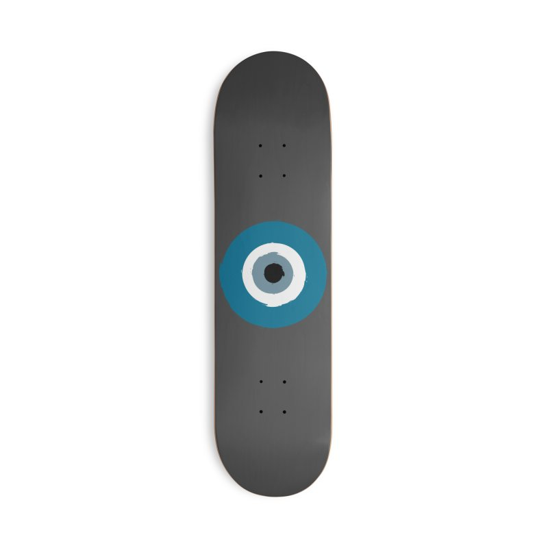 Working Whatnot Evil Eye Accessories Skateboard by Working Whatnot's Artist Shop