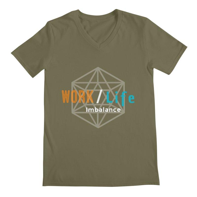 WLI Logo Merch Men's V-Neck by Work/Life Imbalance