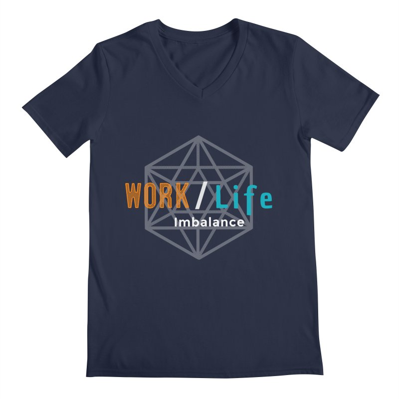 WLI Logo Merch Men's V-Neck by Work/Life Imbalance