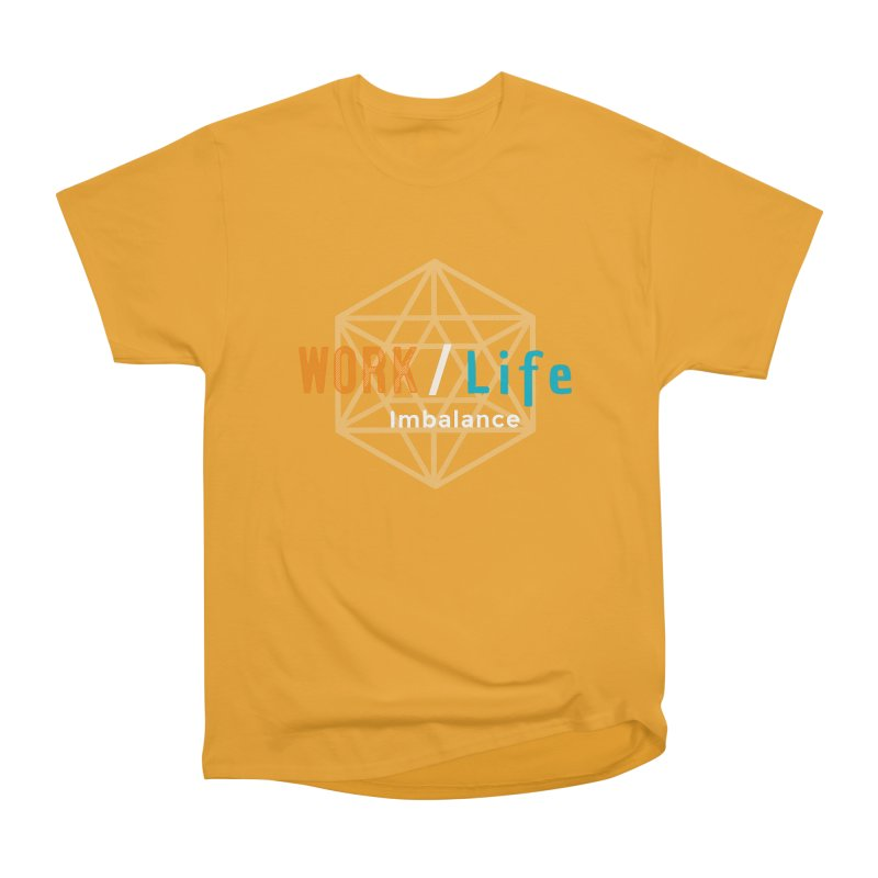 WLI Logo Merch Men's Heavyweight T-Shirt by Work/Life Imbalance