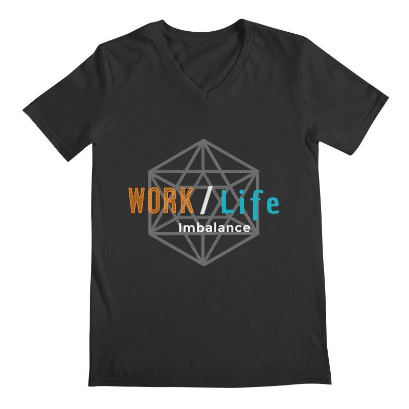 WLI Logo Merch Men's Regular V-Neck by Work/Life Imbalance