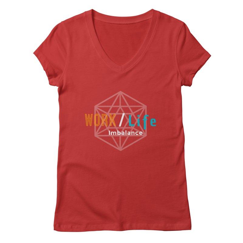 WLI Logo Merch Women's Regular V-Neck by worklifeimbalance's Artist Shop