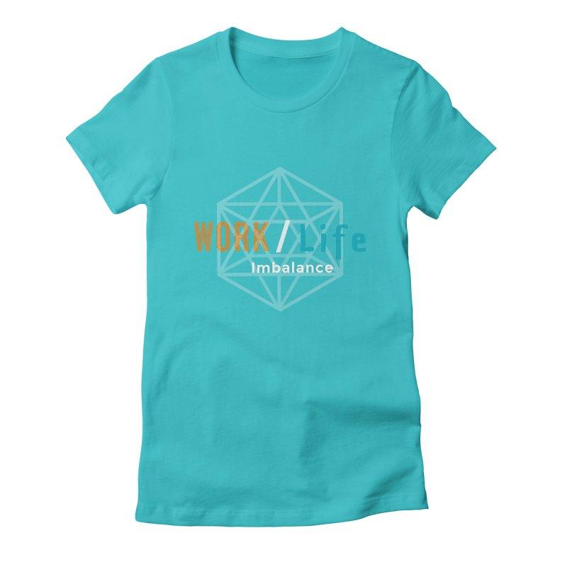 WLI Logo Merch Women's Fitted T-Shirt by Work/Life Imbalance