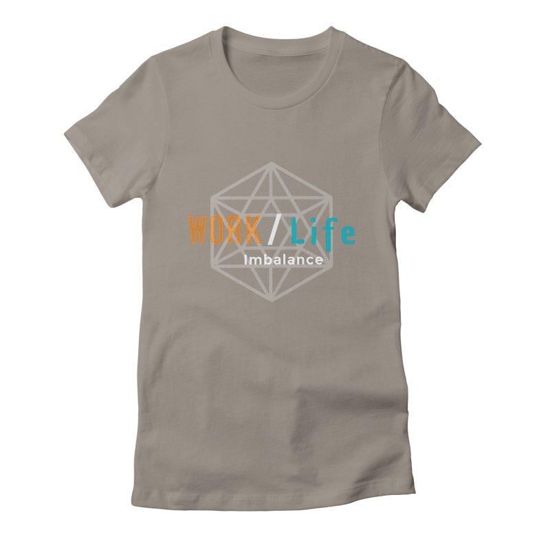 WLI Logo Merch Women's Fitted T-Shirt by worklifeimbalance's Artist Shop