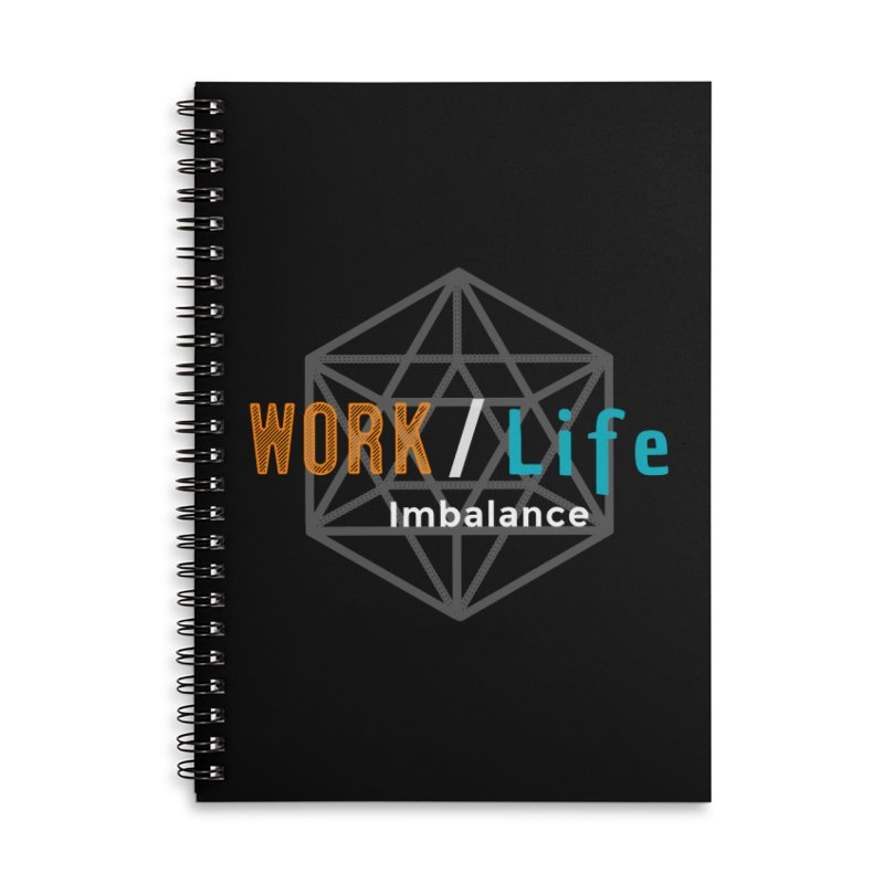 WLI Logo Merch Accessories Lined Spiral Notebook by Work/Life Imbalance