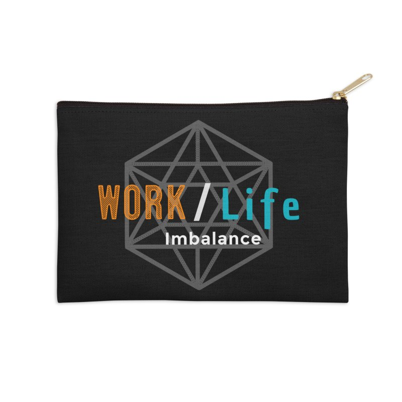 WLI Logo Merch Accessories Zip Pouch by Work/Life Imbalance