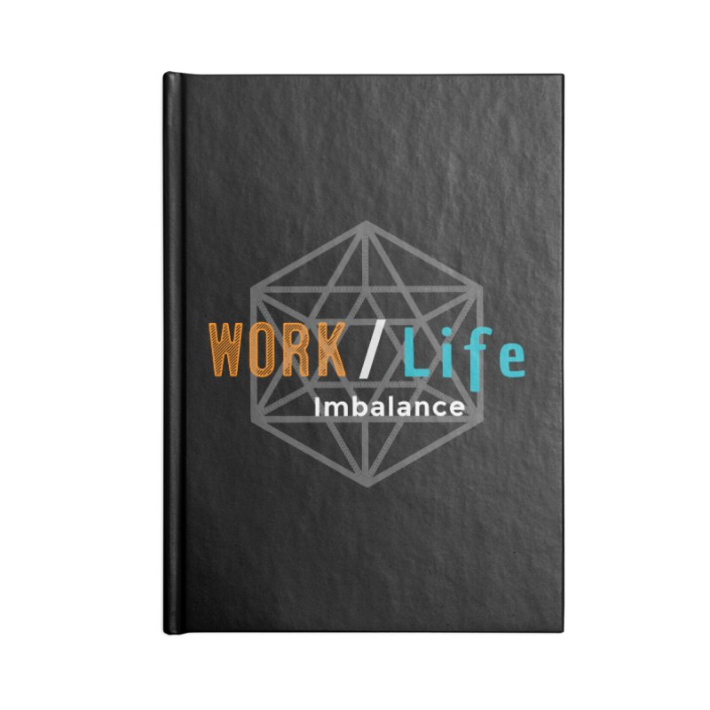 WLI Logo Merch Accessories Lined Journal Notebook by Work/Life Imbalance