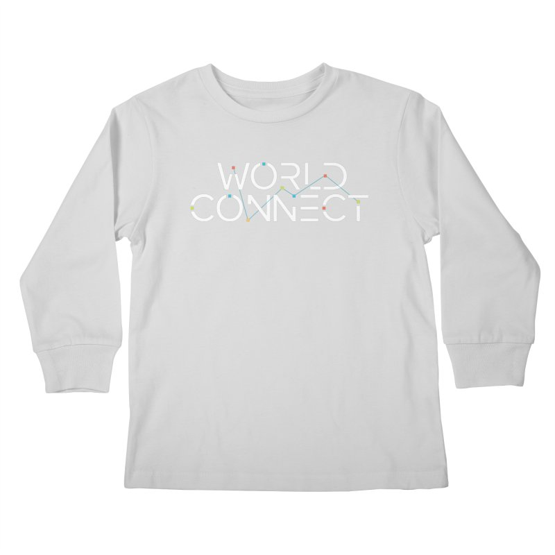 White Classic Kids Longsleeve T-Shirt by World Connect Merchandise