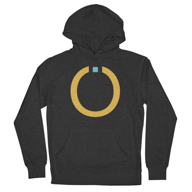 Yellow Pictogram Men's French Terry Pullover Hoody by World Connect Merchandise