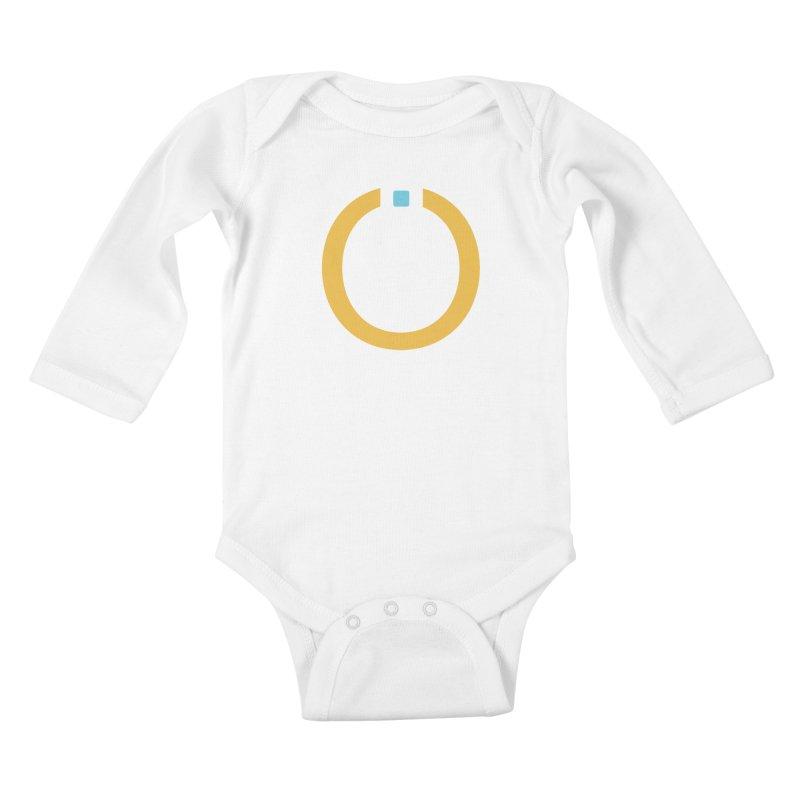 Yellow Pictogram Kids Baby Longsleeve Bodysuit by World Connect Merchandise