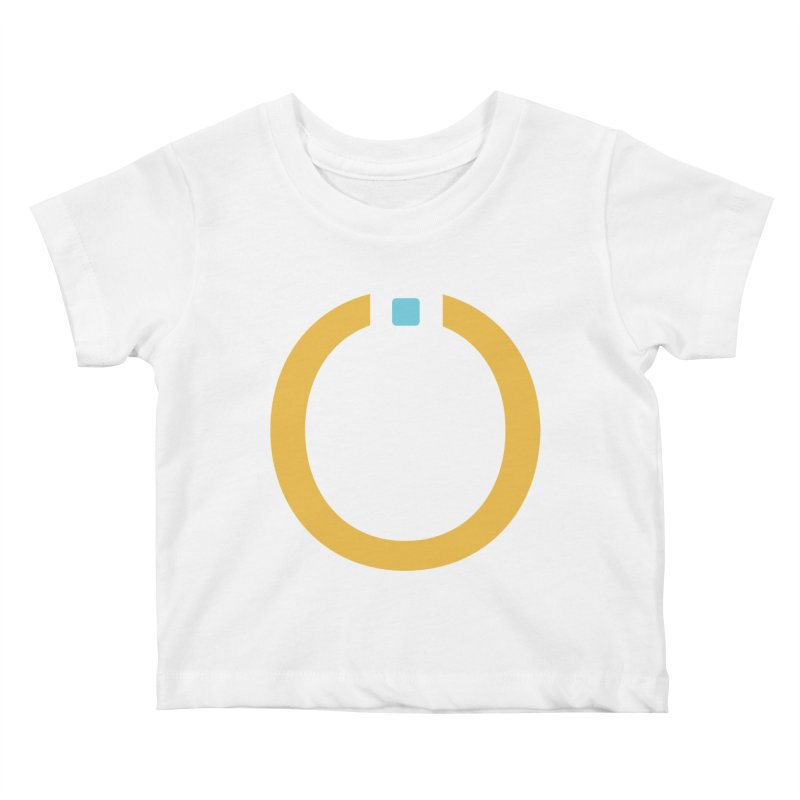 Yellow Pictogram Kids Baby T-Shirt by World Connect Merchandise
