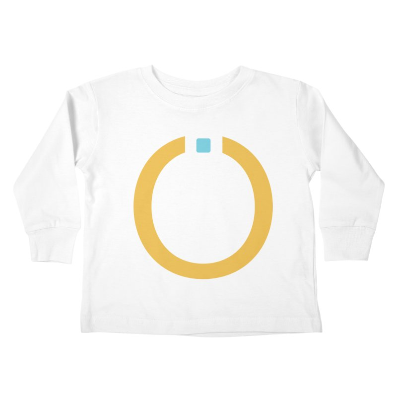 Yellow Pictogram Kids Toddler Longsleeve T-Shirt by World Connect Merchandise