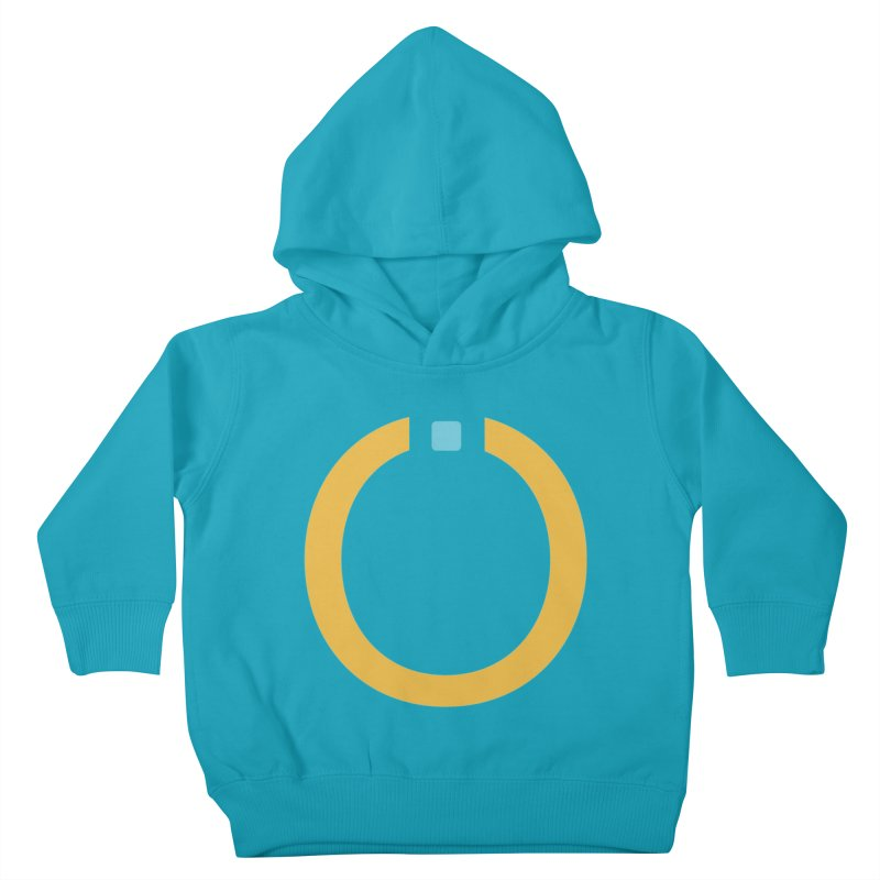 Yellow Pictogram Kids Toddler Pullover Hoody by World Connect Merchandise