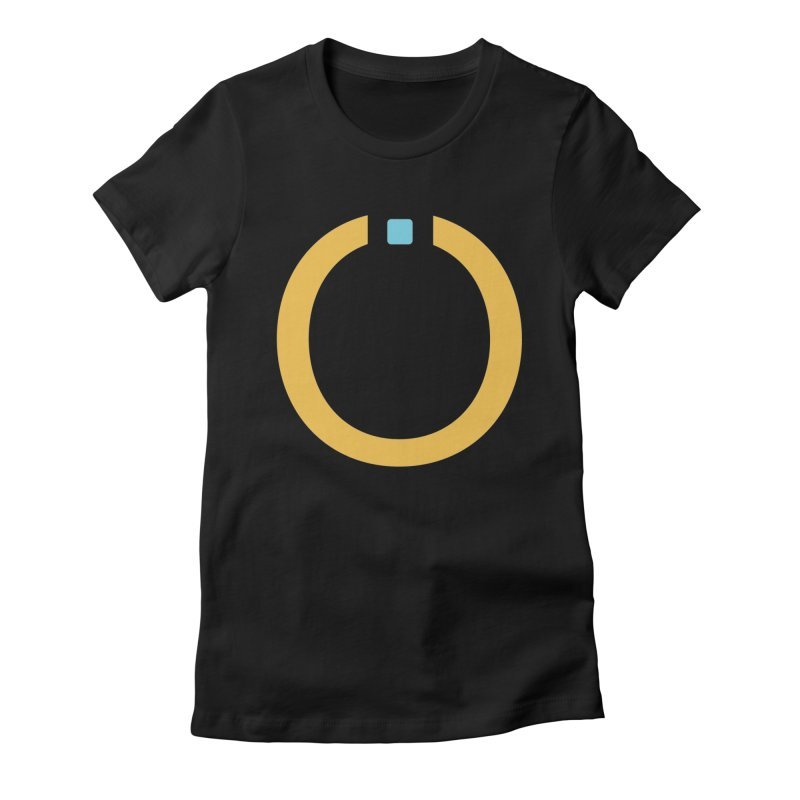 Yellow Pictogram Women's Fitted T-Shirt by World Connect Merchandise