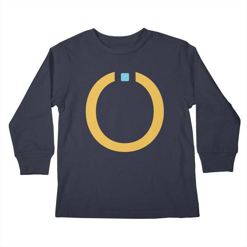 Yellow Pictogram Kids Longsleeve T-Shirt by World Connect Merchandise