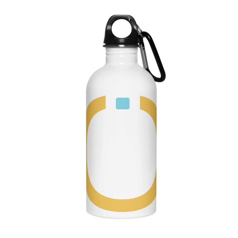 Yellow Pictogram Accessories Water Bottle by World Connect Merchandise