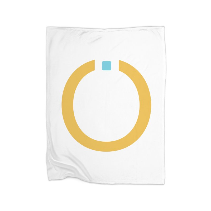 Yellow Pictogram Home Fleece Blanket Blanket by World Connect Merchandise