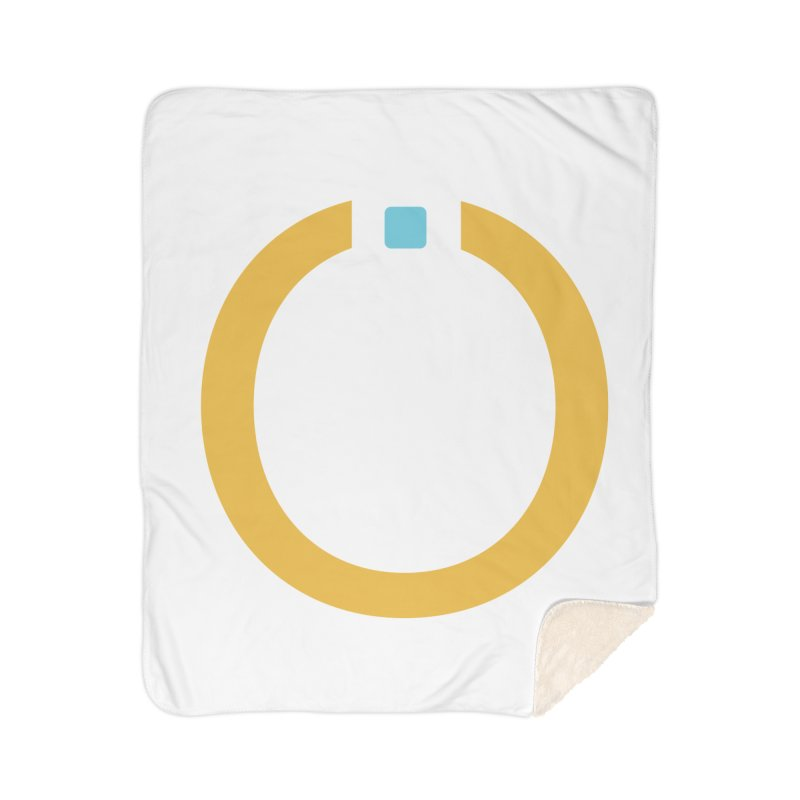 Yellow Pictogram Home Sherpa Blanket Blanket by World Connect Merchandise