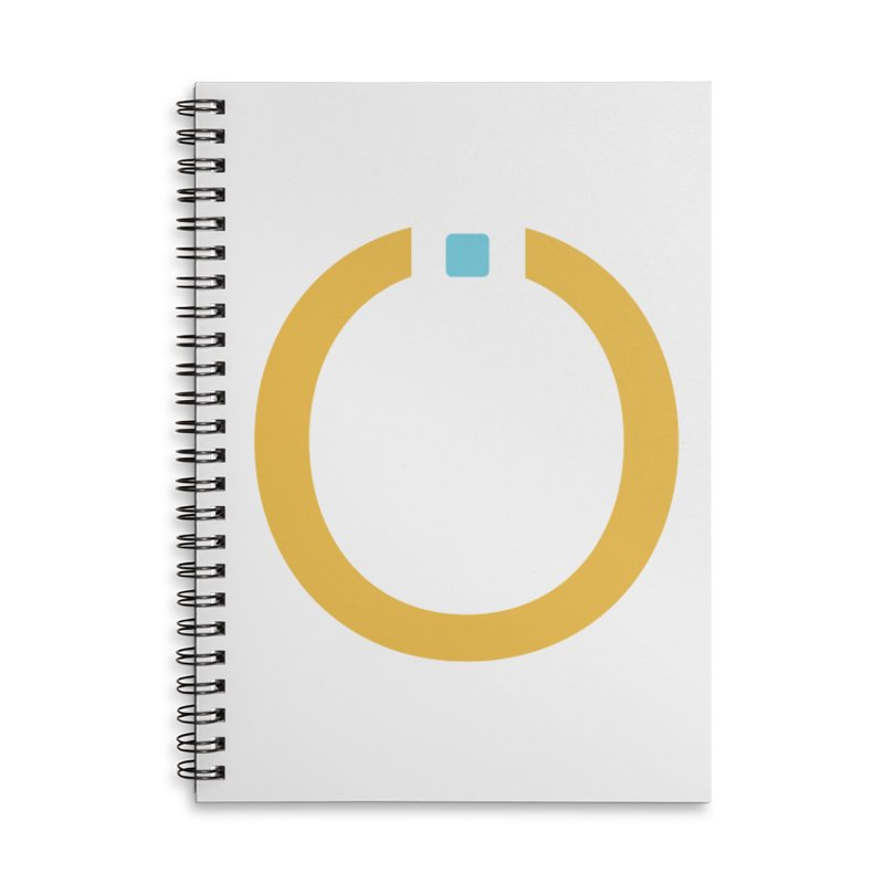 Yellow Pictogram Accessories Lined Spiral Notebook by World Connect Merchandise