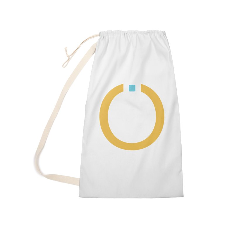 Yellow Pictogram Accessories Laundry Bag Bag by World Connect Merchandise