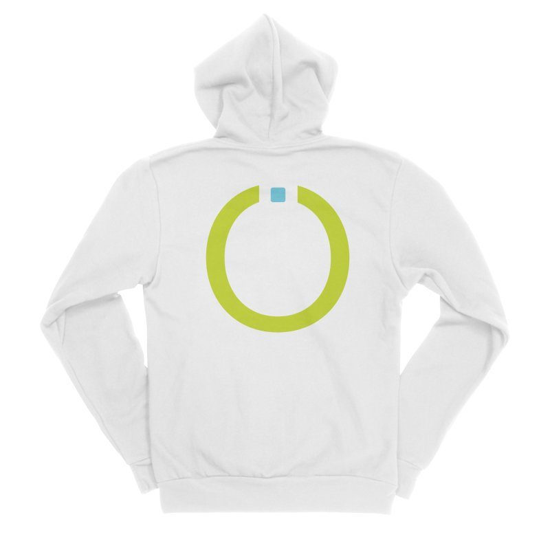 Green Pictogram Women's Sponge Fleece Zip-Up Hoody by World Connect Merchandise
