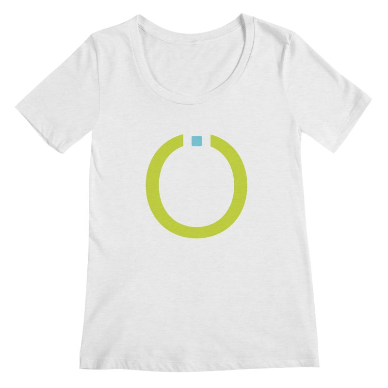 Green Pictogram Women's Regular Scoop Neck by World Connect Merchandise