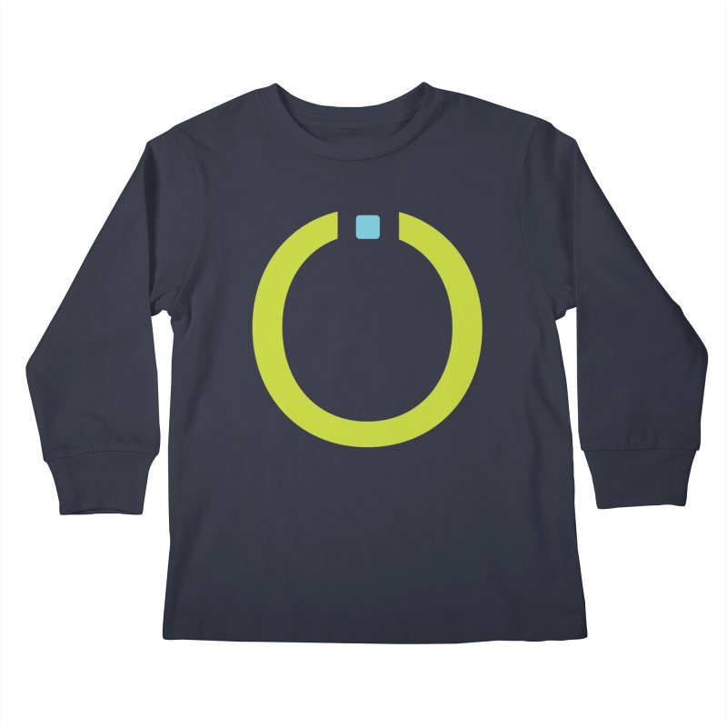 Green Pictogram Kids Longsleeve T-Shirt by World Connect Merchandise