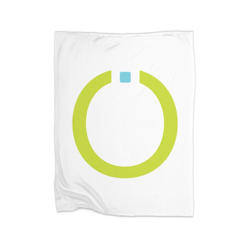 Green Pictogram Home Fleece Blanket Blanket by World Connect Merchandise