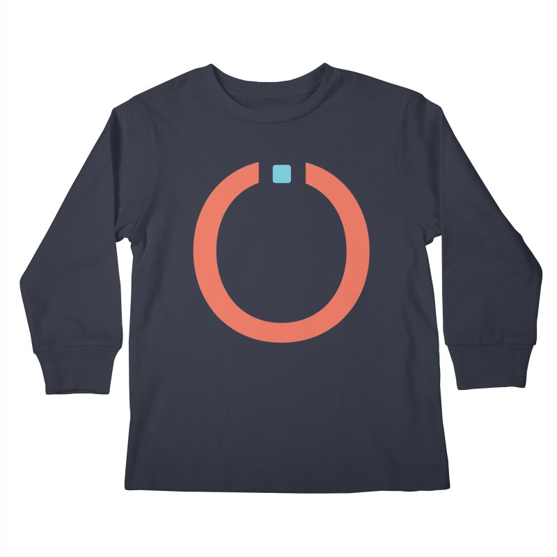 Coral Pictogram Kids Longsleeve T-Shirt by World Connect Merchandise