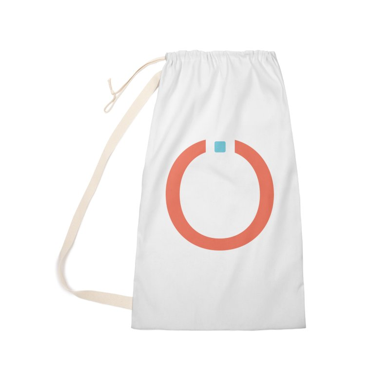 Coral Pictogram Accessories Laundry Bag Bag by World Connect Merchandise
