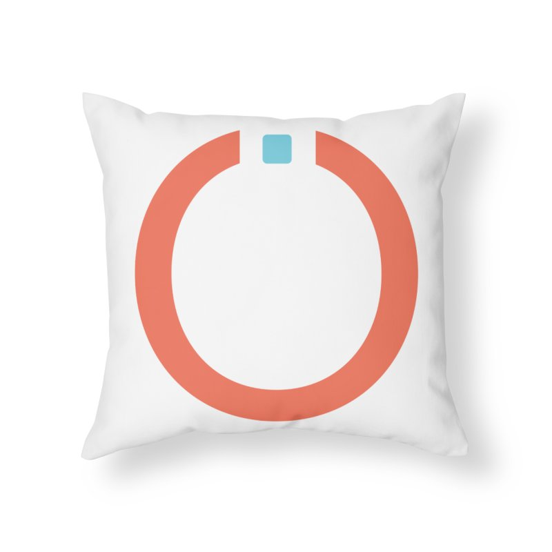 Coral Pictogram Home Throw Pillow by World Connect Merchandise