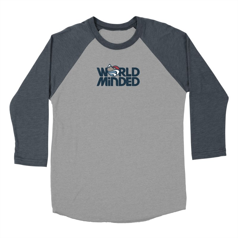 Charged in Men's Baseball Triblend Longsleeve T-Shirt Navy Sleeves by World Minded