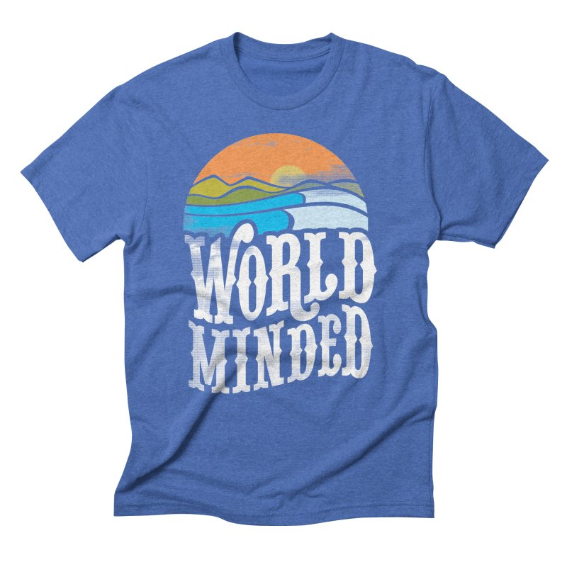 Sunseter Men's Triblend T-Shirt by World Minded
