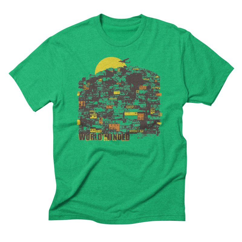 Favela in Men's Triblend T-shirt Tri-Kelly by World Minded