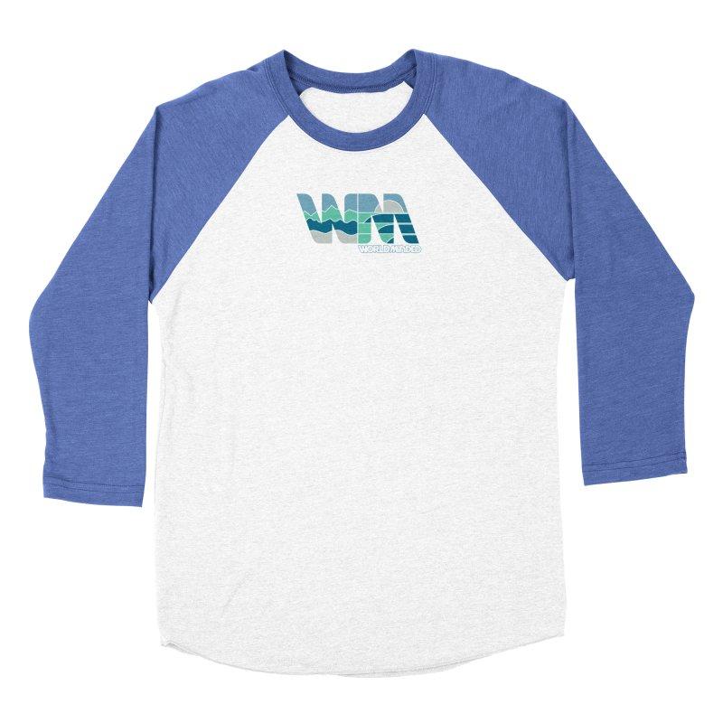 Terrain in Men's Baseball Triblend Longsleeve T-Shirt Tri-Blue Sleeves by World Minded