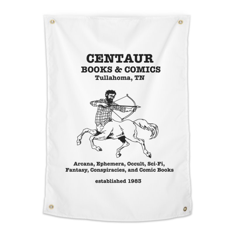 CENTAUR BOOKS AND COMICS Home Tapestry by worldwidecox's Artist Shop