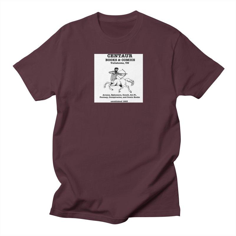 CENTAUR BOOKS AND COMICS Men's T-shirt by worldwidecox's Artist Shop