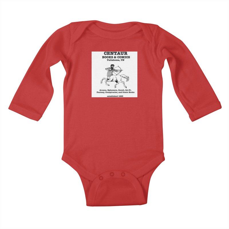 CENTAUR BOOKS AND COMICS Kids Baby Longsleeve Bodysuit by worldwidecox's Artist Shop