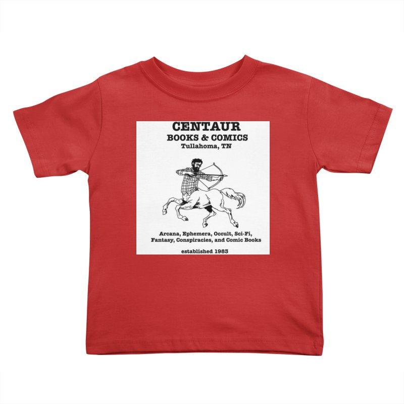 CENTAUR BOOKS AND COMICS Kids Toddler T-Shirt by worldwidecox's Artist Shop