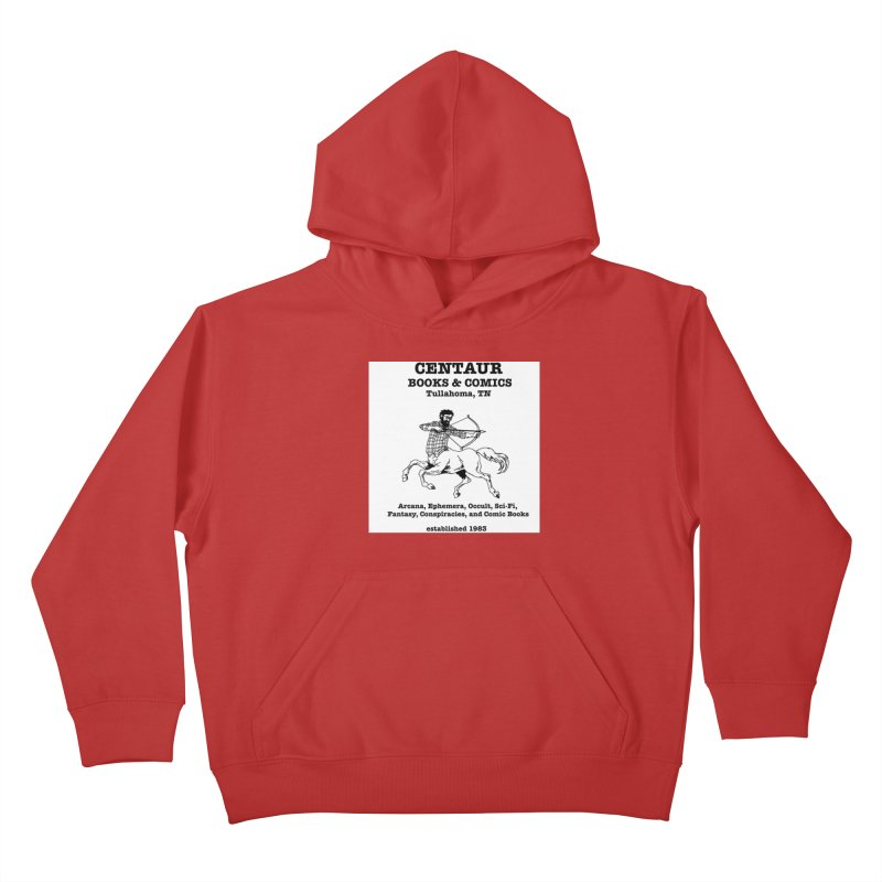 CENTAUR BOOKS AND COMICS Kids Pullover Hoody by worldwidecox's Artist Shop