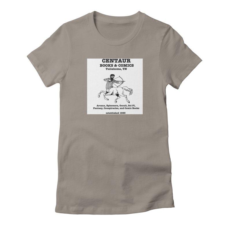 CENTAUR BOOKS AND COMICS Women's Fitted T-Shirt by worldwidecox's Artist Shop