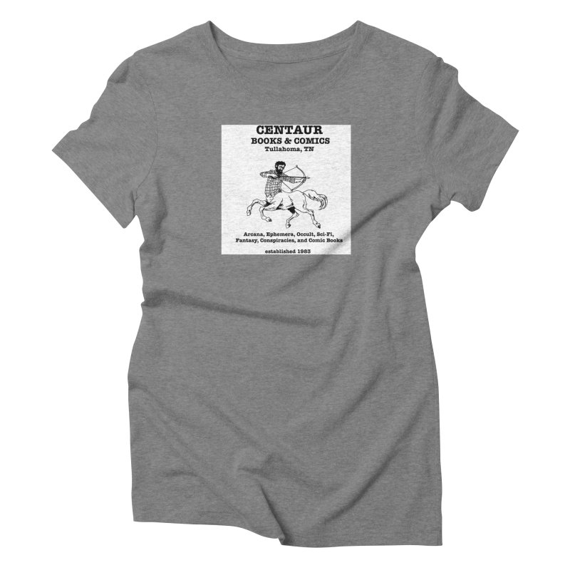 CENTAUR BOOKS AND COMICS Women's Triblend T-shirt by worldwidecox's Artist Shop