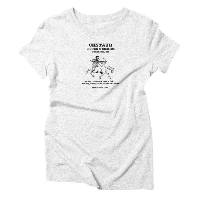 CENTAUR BOOKS AND COMICS Women's Triblend T-shirt by worldwidecox's Artist Shop