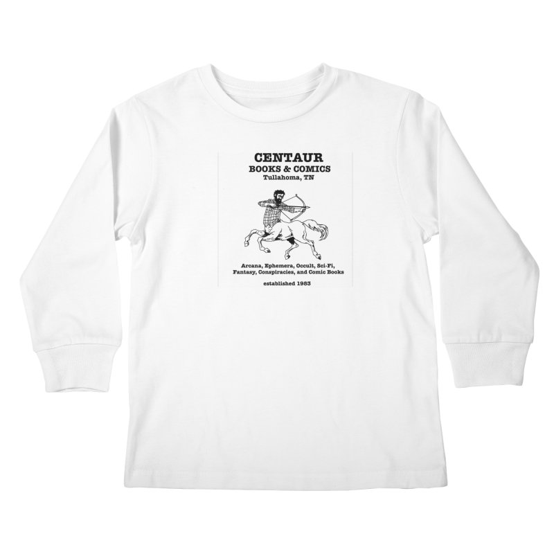 CENTAUR BOOKS AND COMICS Kids Longsleeve T-Shirt by worldwidecox's Artist Shop
